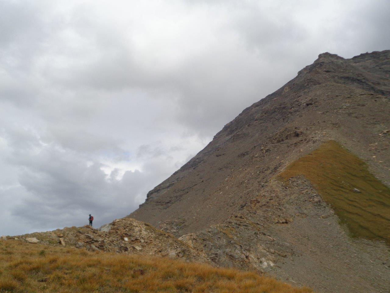 Dal Clopaca vista della cresta ... e di Giacomo che parte