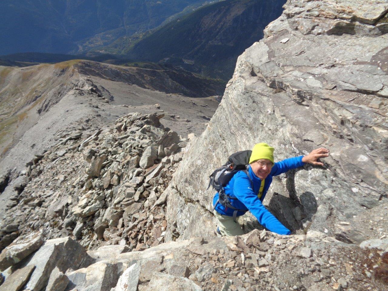 ultima difficoltà alpinistica su roccia (diedro)