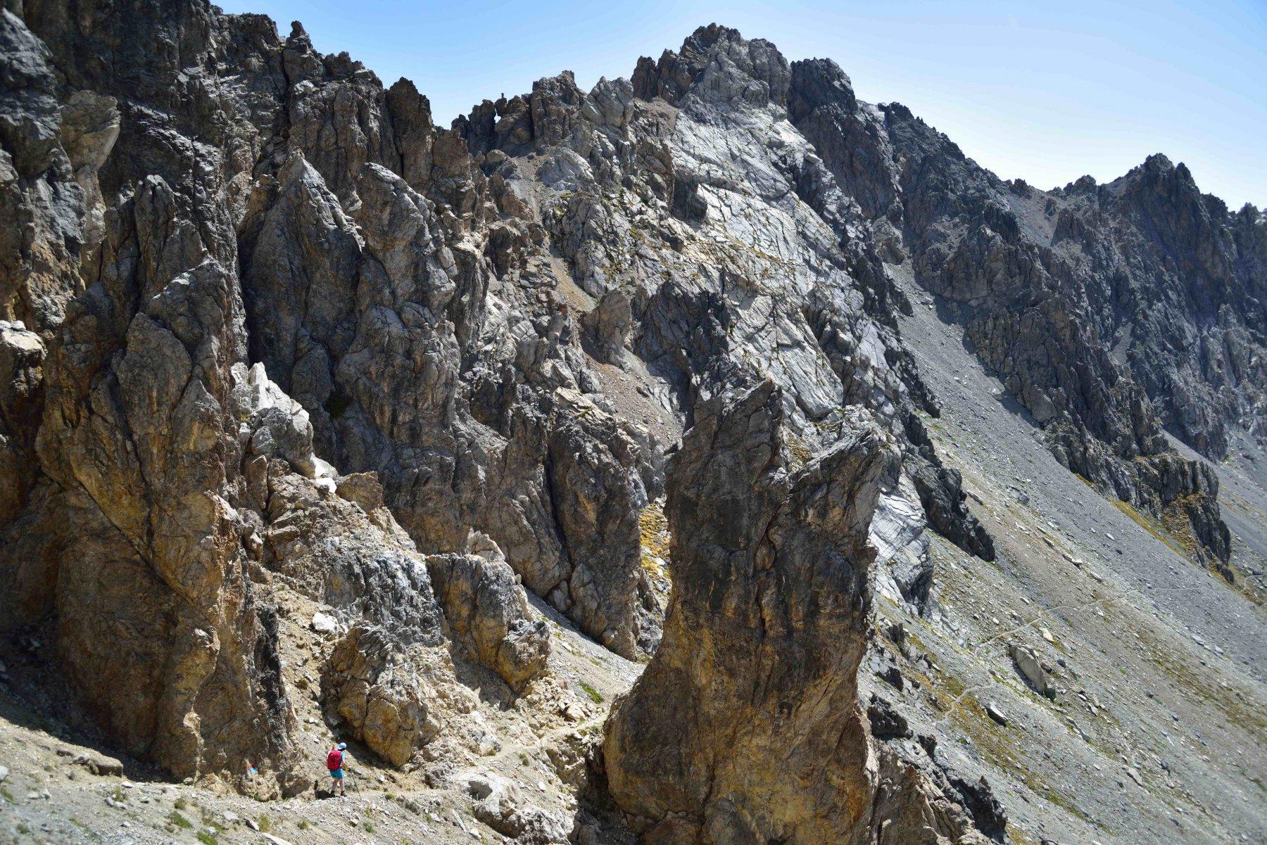 Sentiero Cavallero verso il Passo Peroni