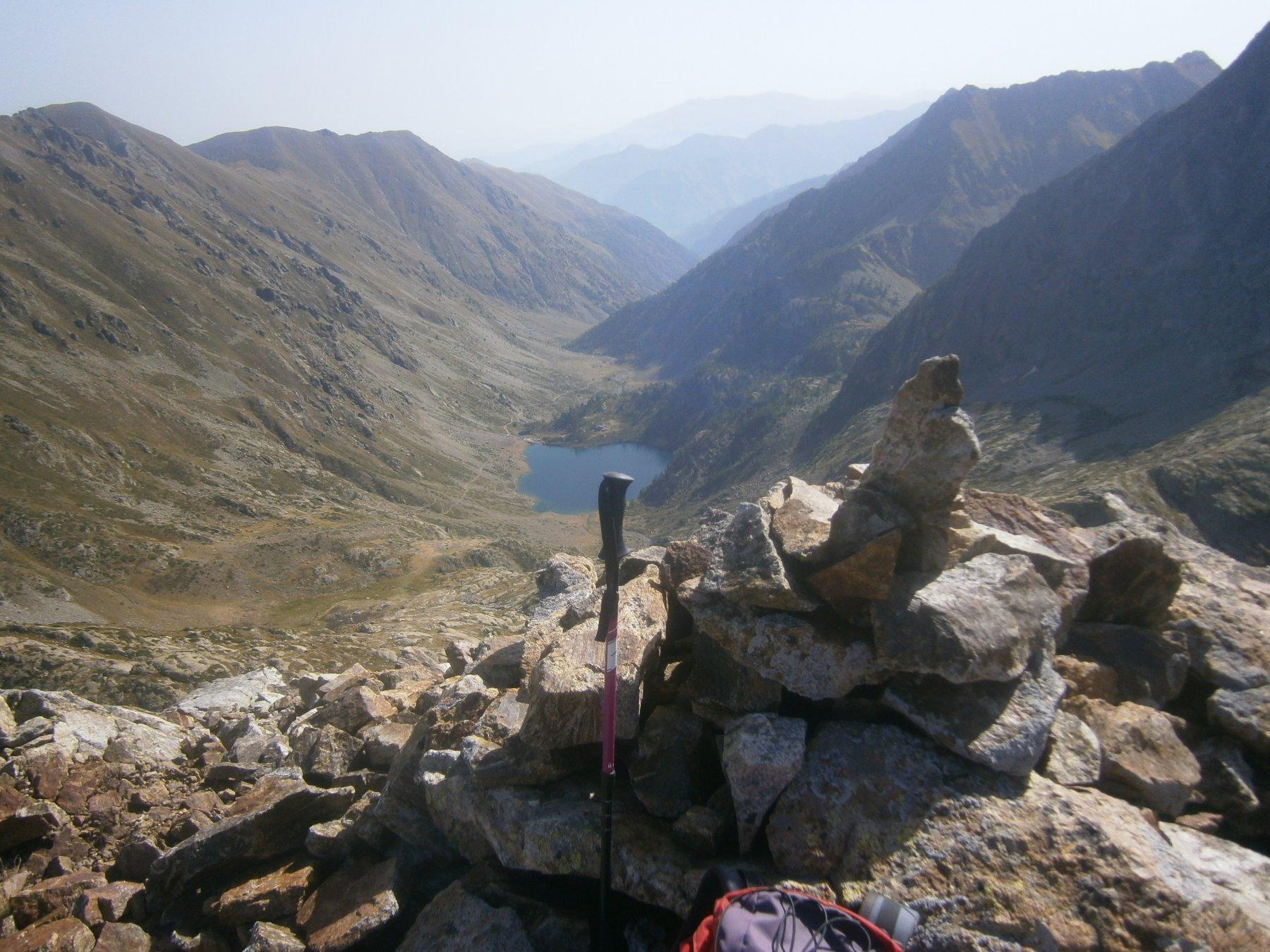 In cima panorama verso valle