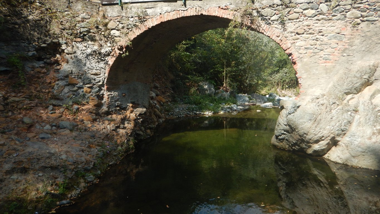 Arcata del ponte che si incontra lungo tragitto