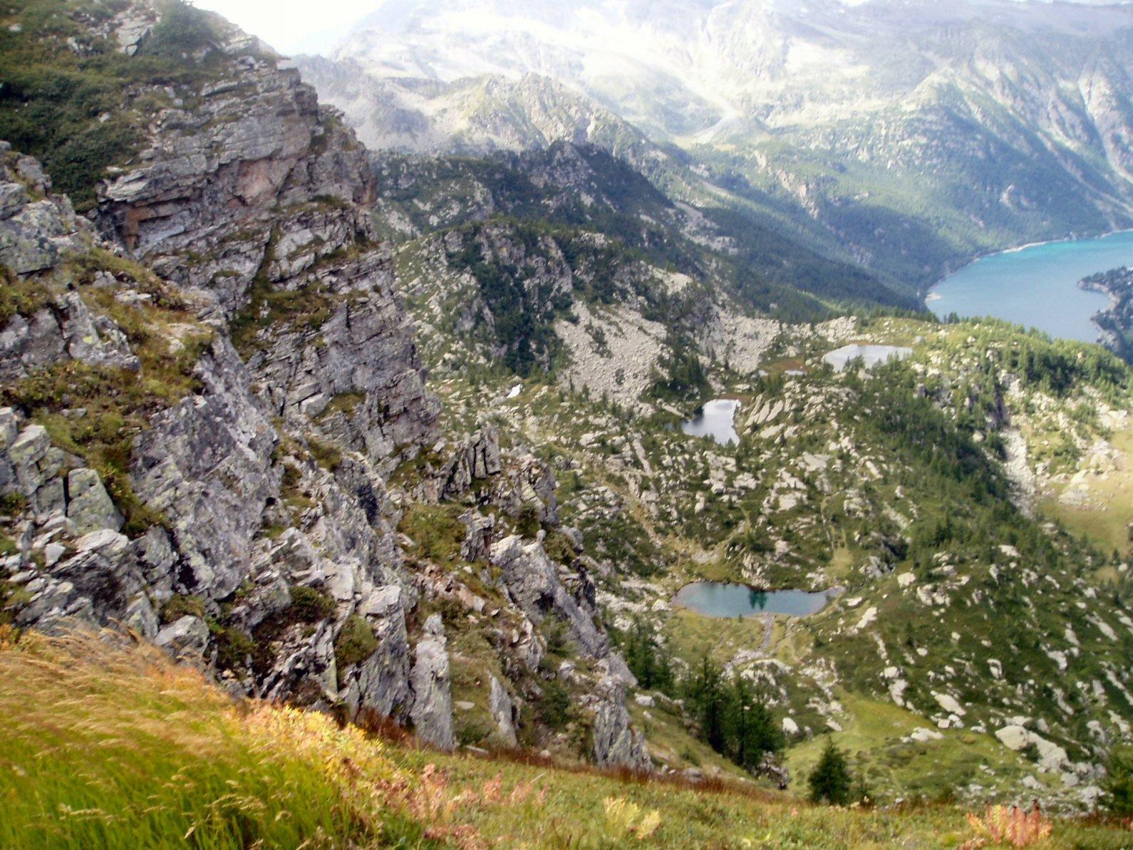 I laghetti ed il Lago di Ceresole.