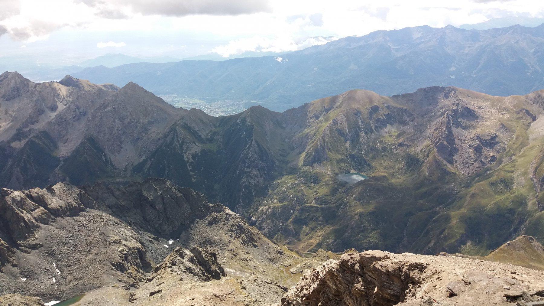 Spartiacque Viu'-Susa e bassa val Susa sullo sfondo