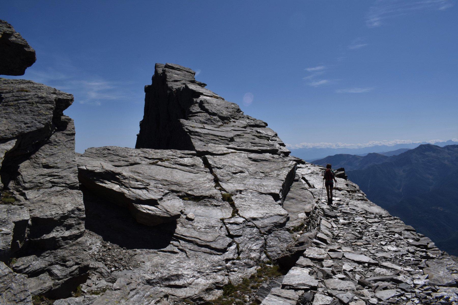 passaggio sulla cresta della Cialancia
