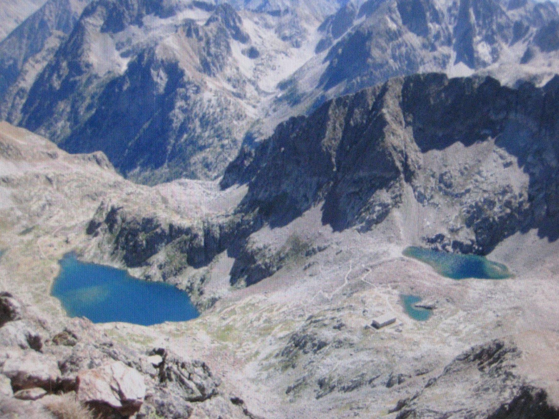 laghi inferiore e superiore di valscura dalla cima