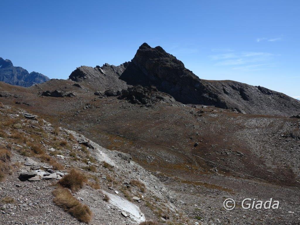La Rocca del Nigro vista dal Col Blanchet