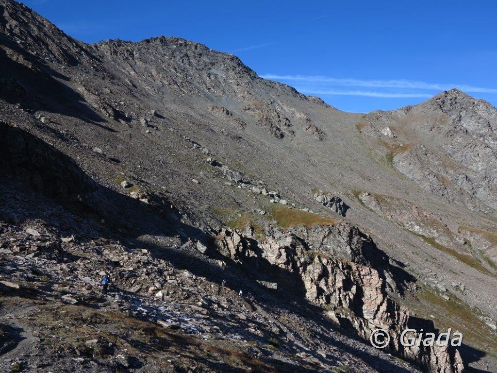 Sul sentiero verso il Col de Chamoussiere