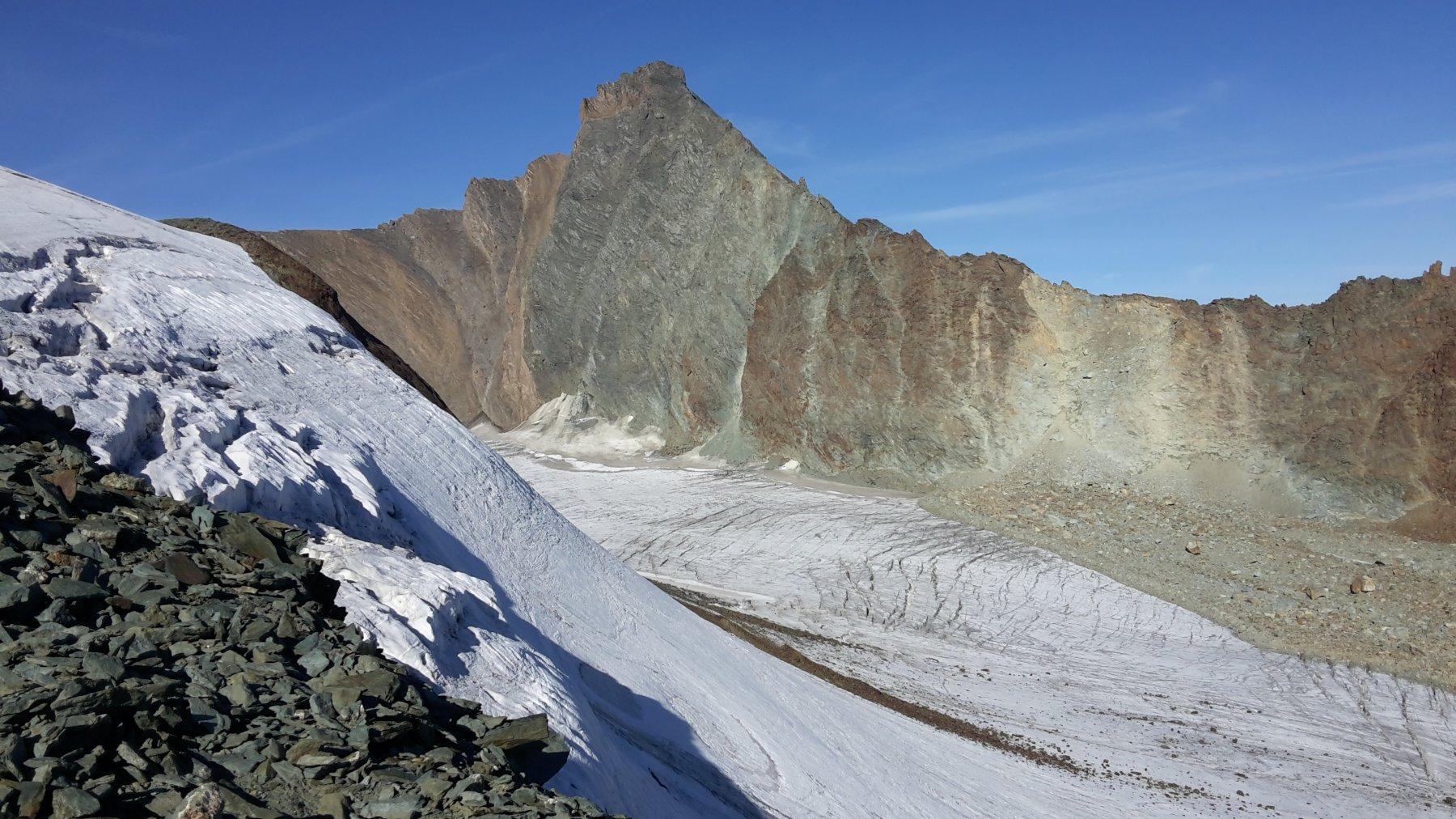 la Grivola ed il ghiacciaio