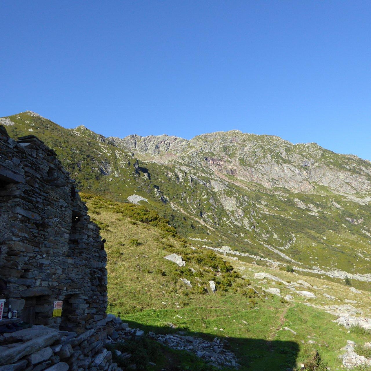 tradizionale foto della punta Sivella dall'alpe Vasnera