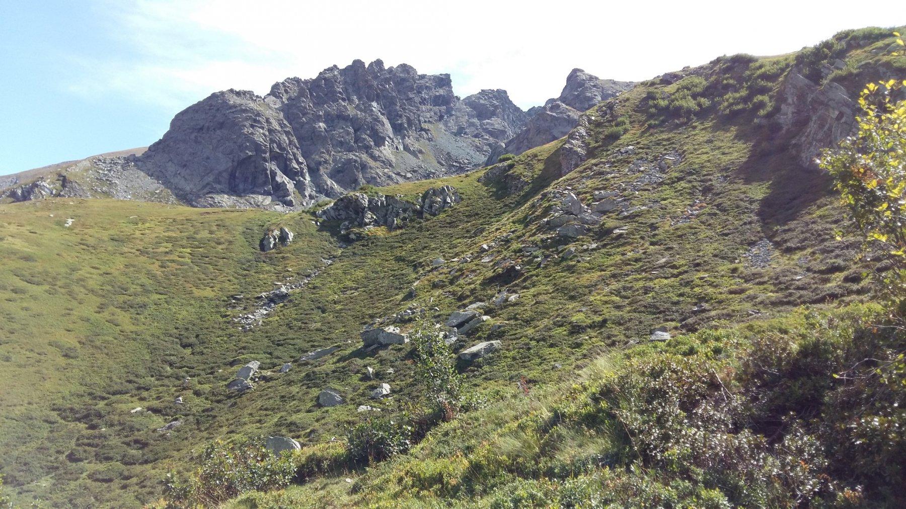 parete iniziale e cresta in avvicinamento.