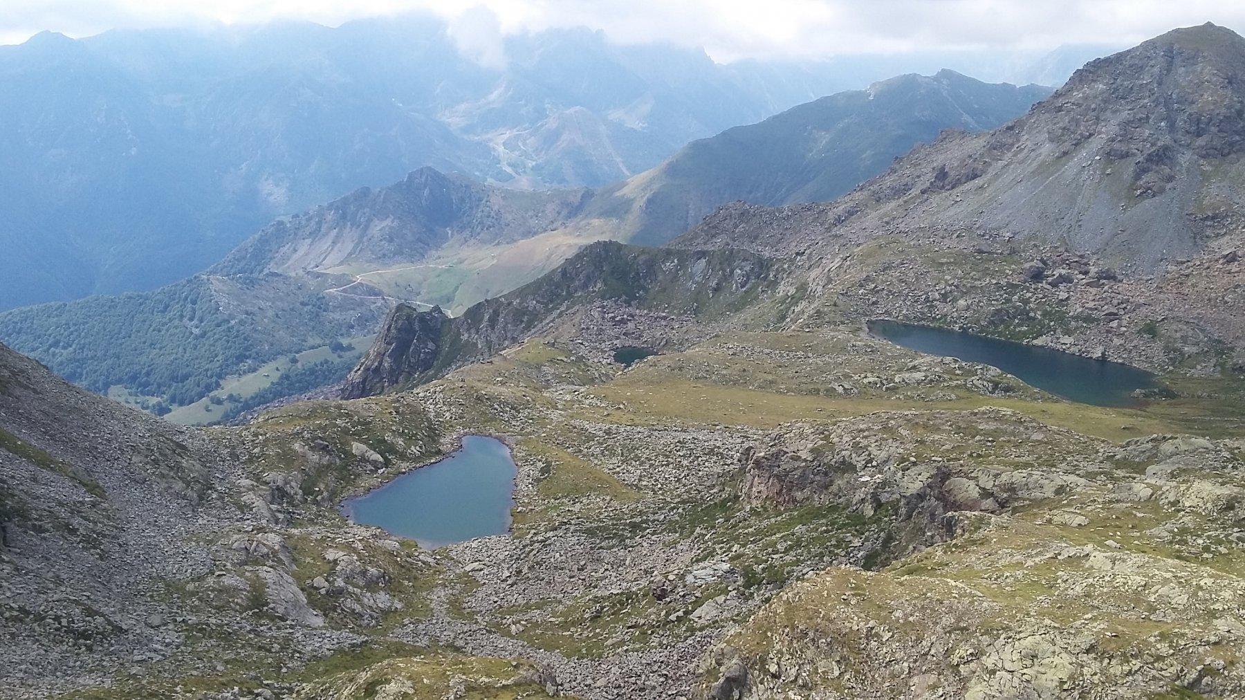 laghi d'Ovarda salendo al Ciarm del Prete