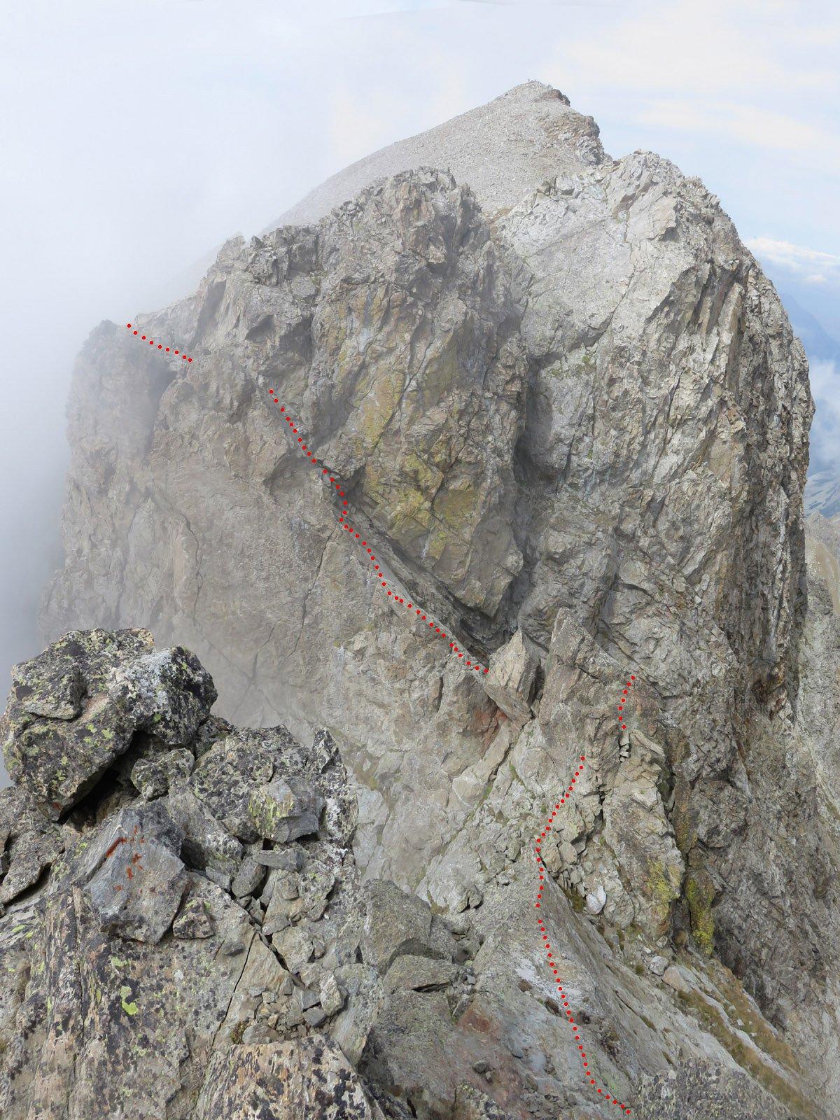 dalla cima il percorso seguito