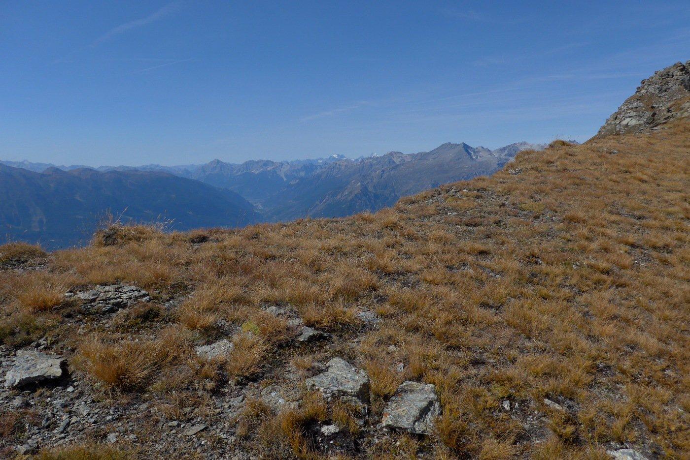 Al Passo Muret, colpo d'occhio sull'Alta Val di Susa