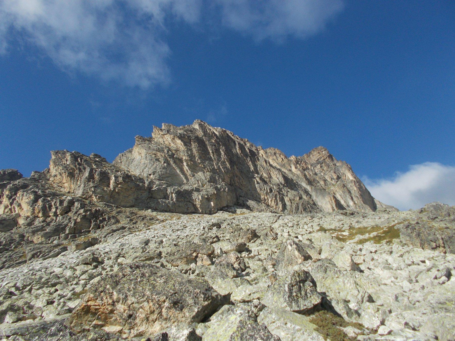 La cresta del Bric di Mezzodi..fotografata di ritorno dalla Rognosa..