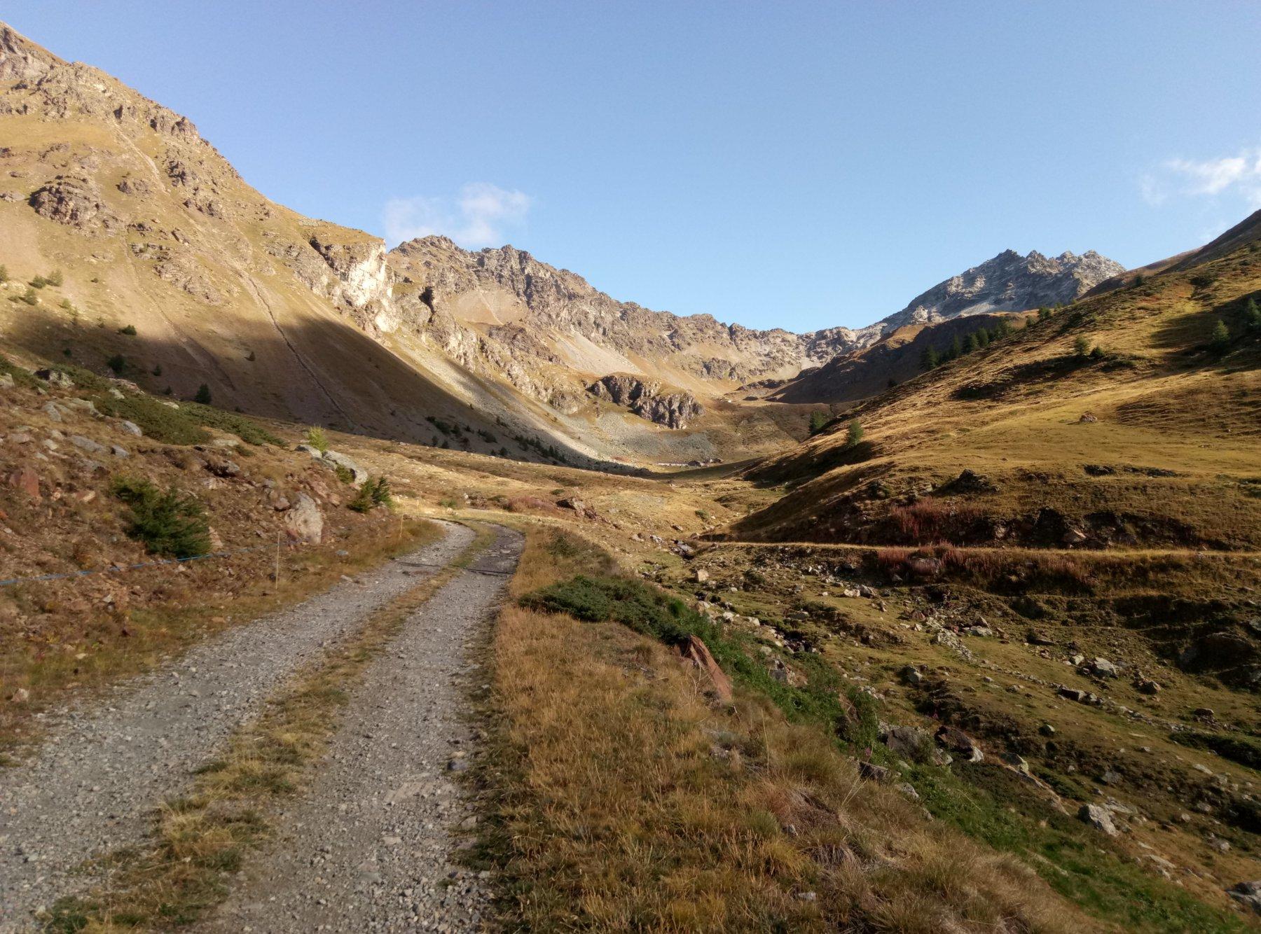 salendo nel vallone prima dell'alpeggio di la Seyvaz