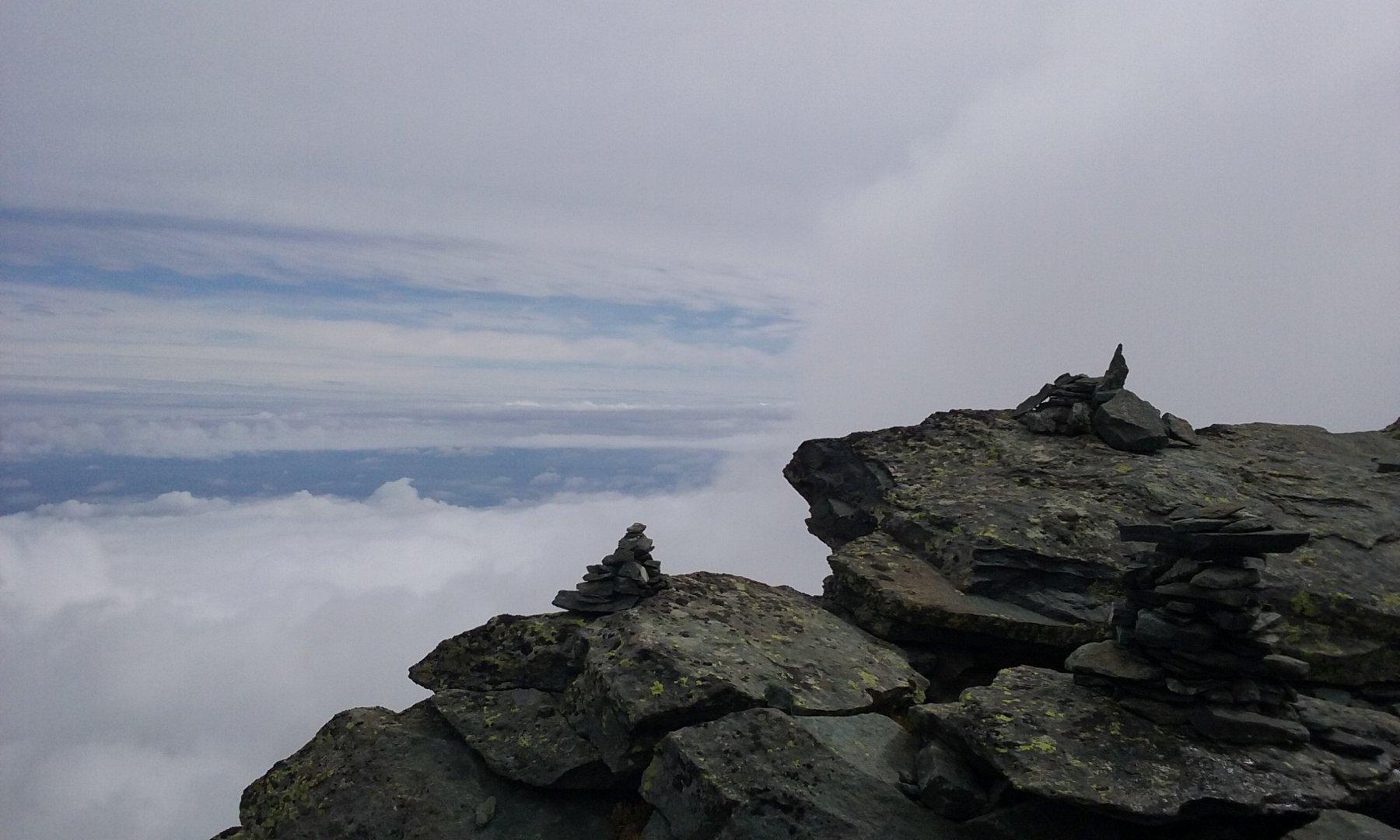 nuvole dalla cima
