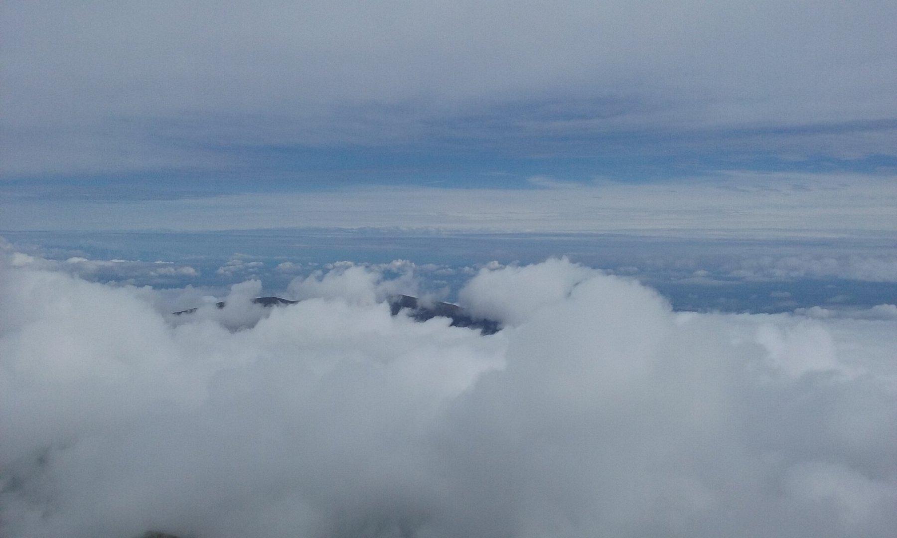 Sulla pianura un mare di nuvole