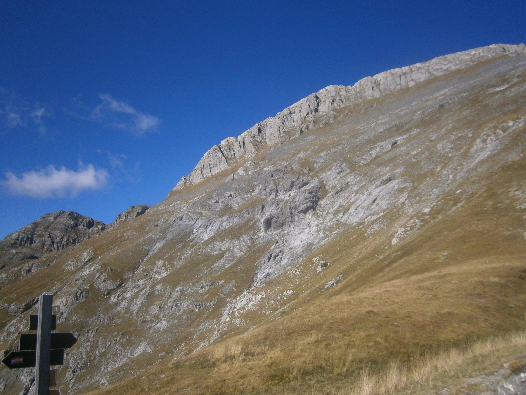 le 2 cime raggiunte viste dal passo delle Saline