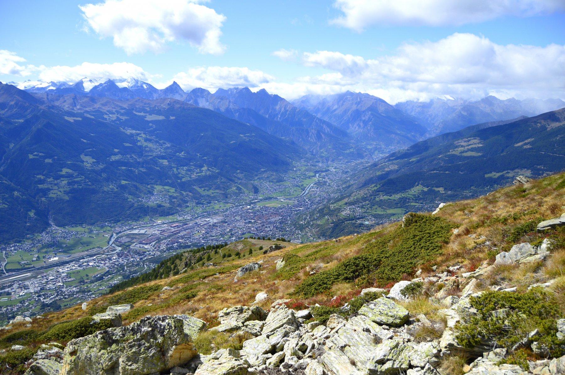 La dorsale risalita, Aosta è proprio sotto