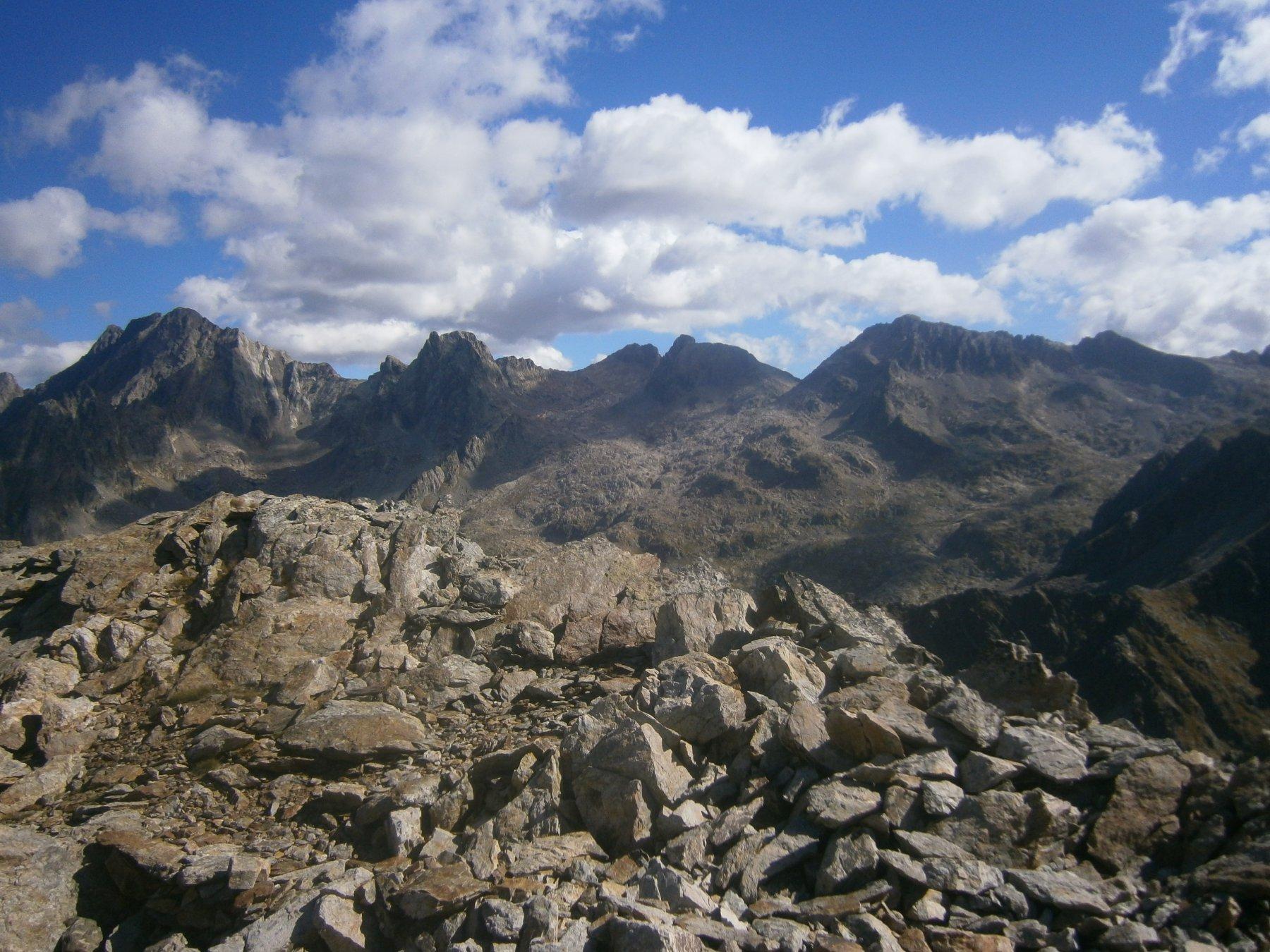 Dall'Argentera alla Ghiliè dalla cima di Naucetas