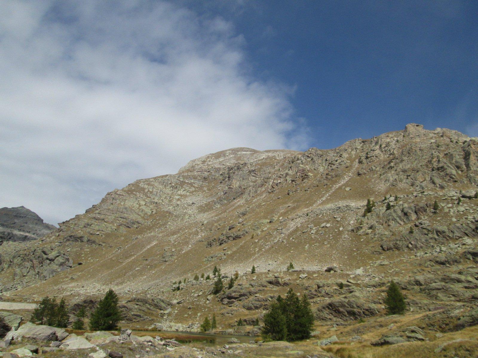 il Monte Bego con il versante di salita