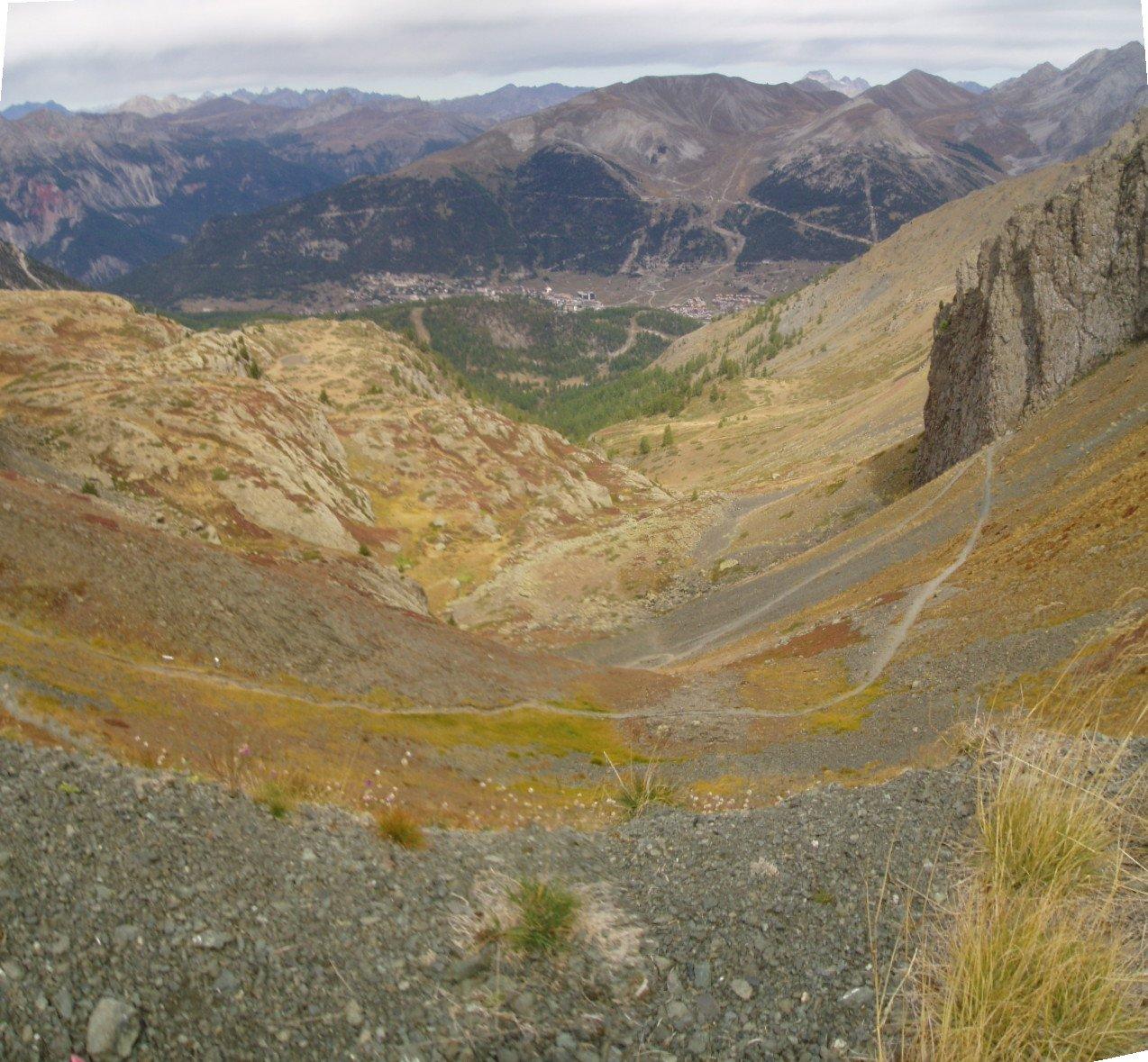 Ultima parte del vallone di salita.