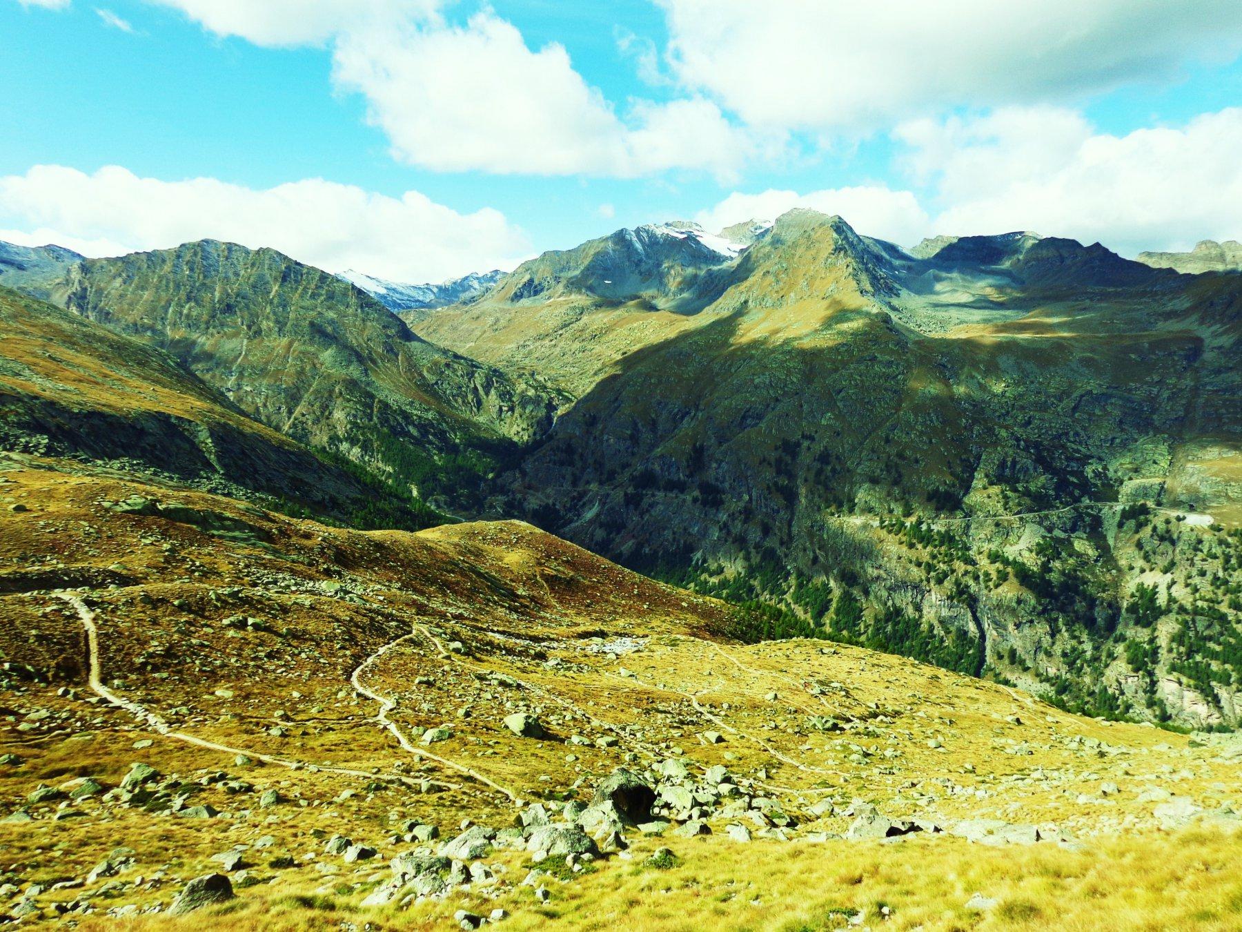 Il sentiero visto dall'alto