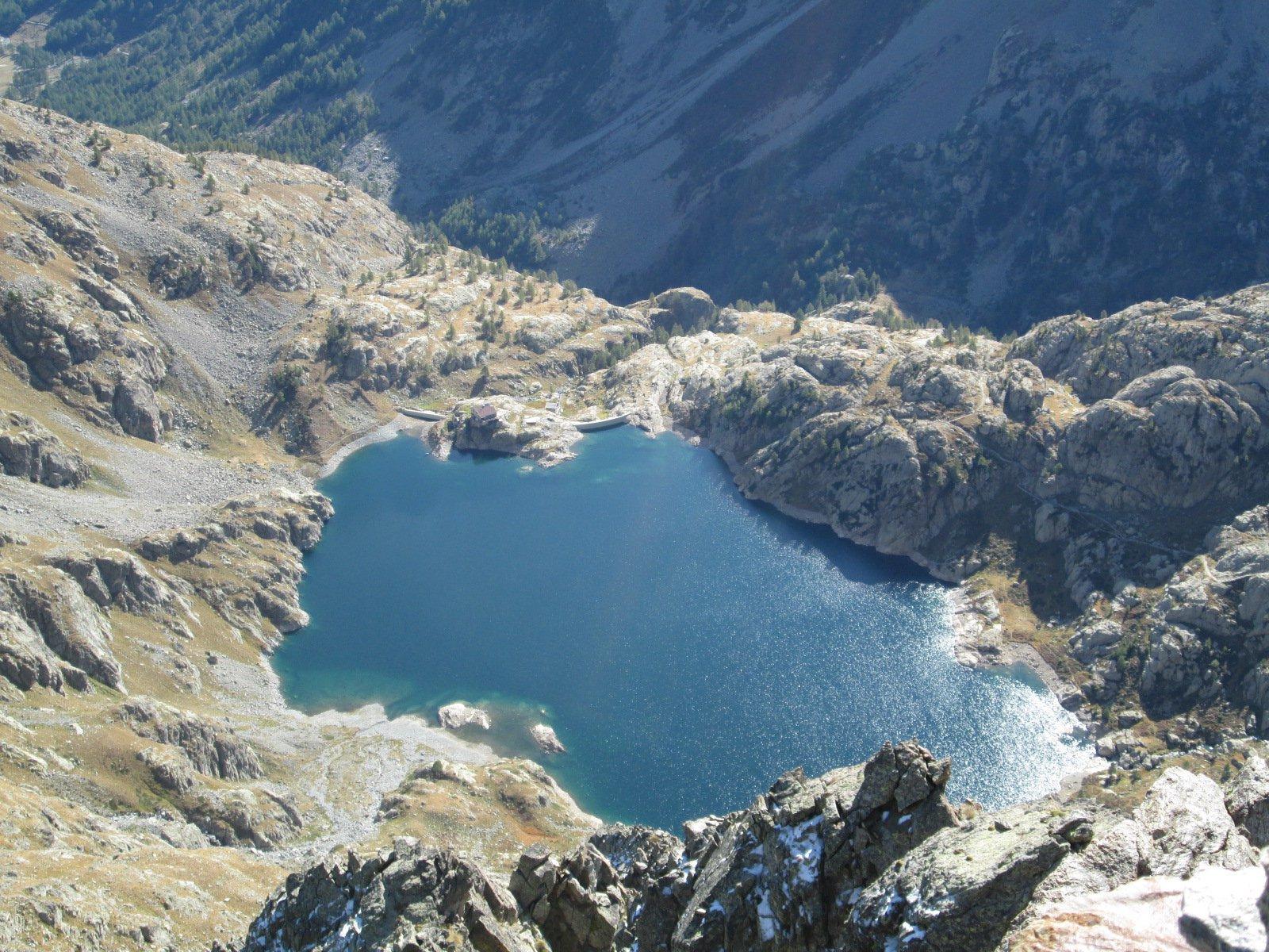 il Lac Vert visto dalla cima