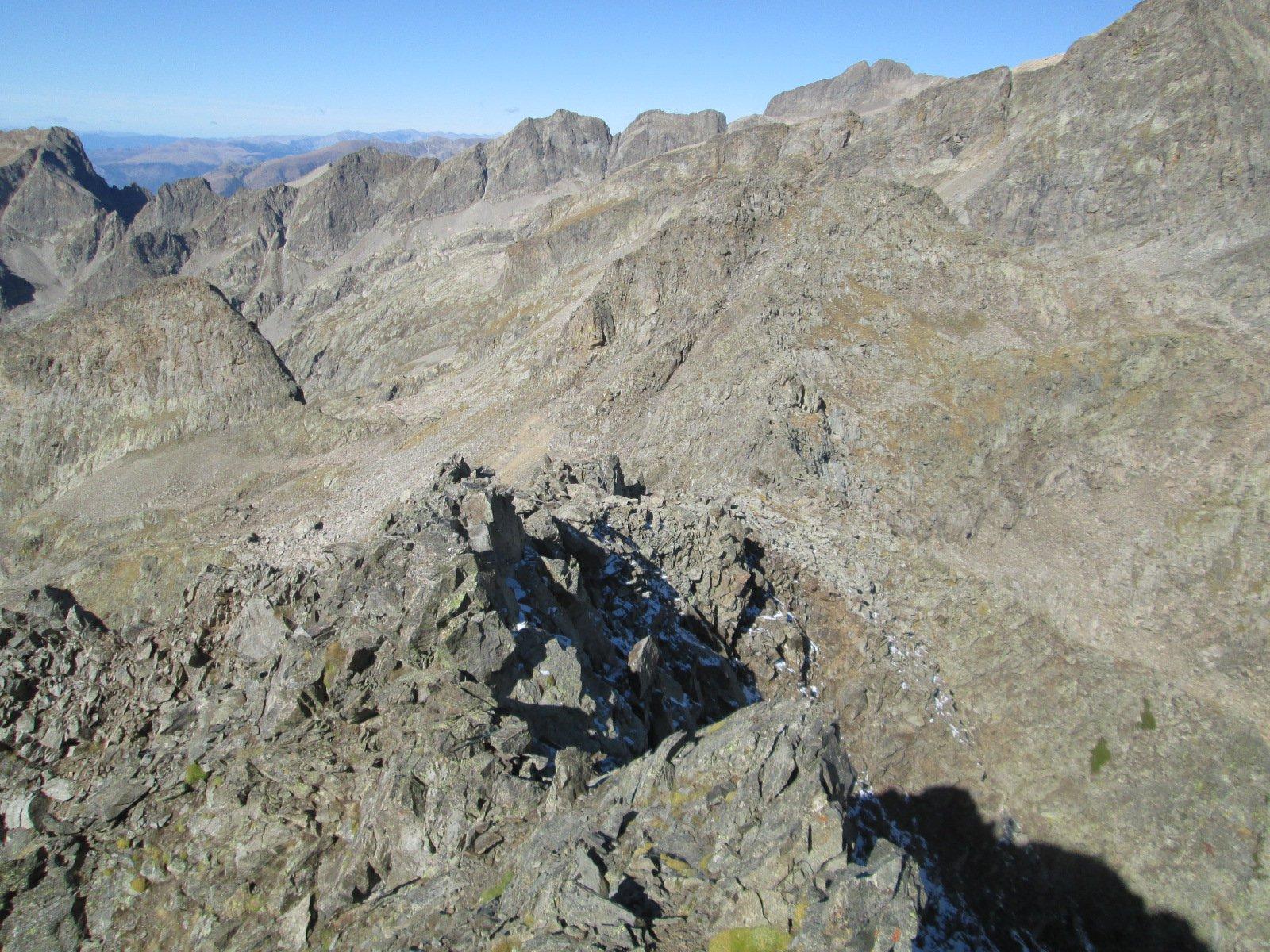 la cresta vista dall'alto