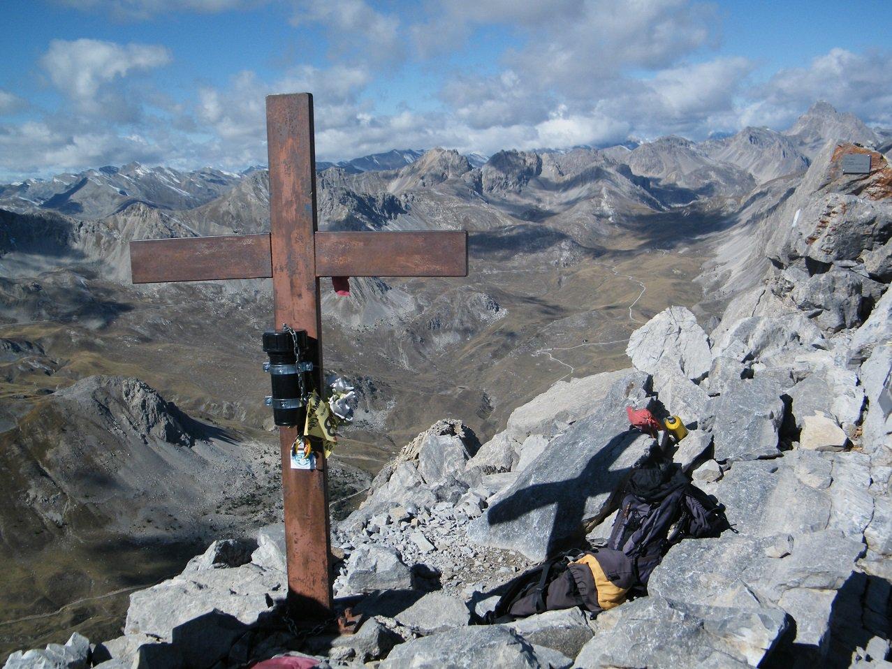 La croce di vetta.