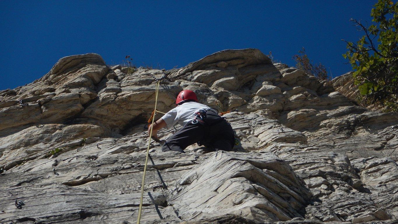 Papà tornato ad arrampicare