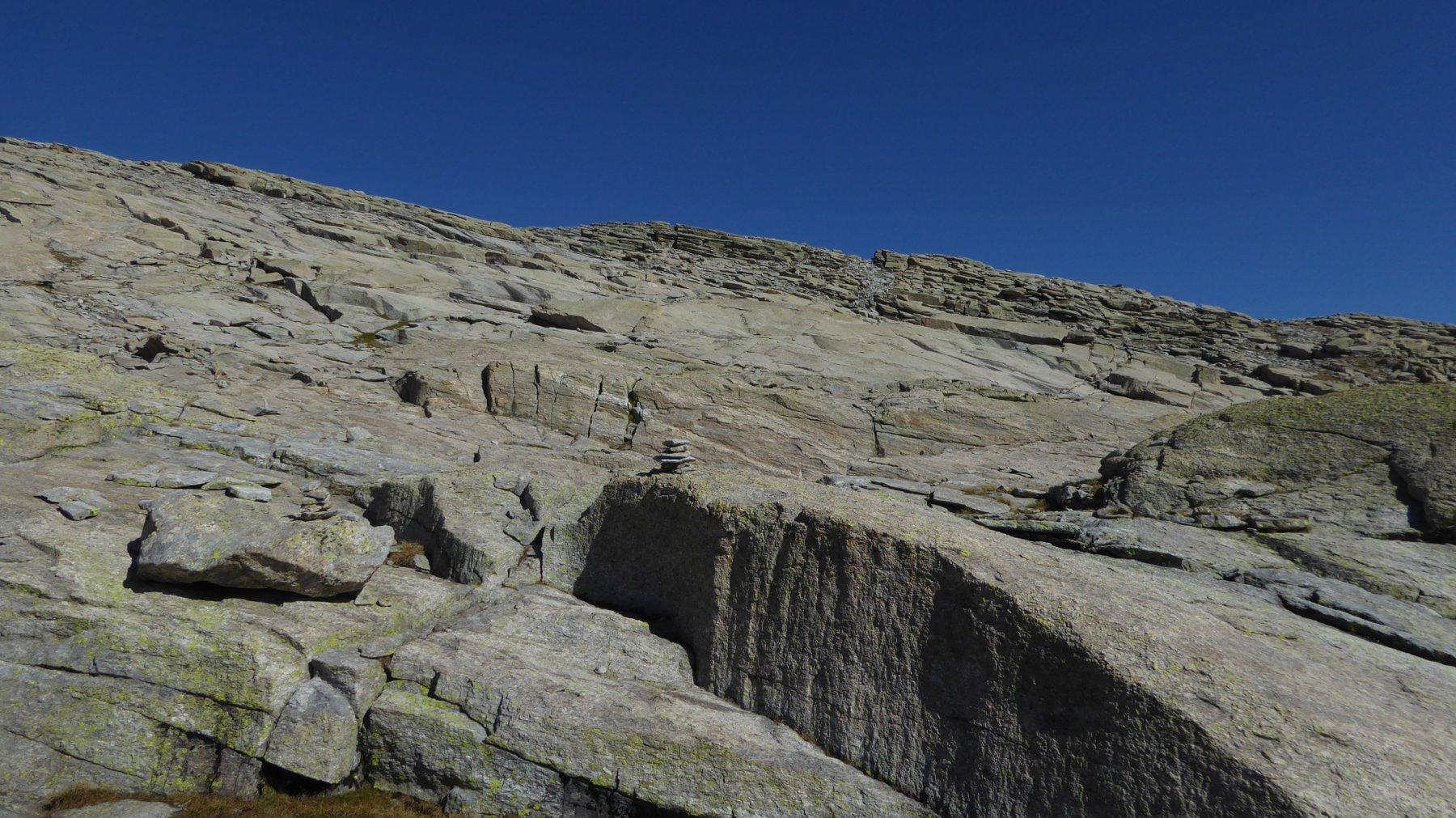 Il gradino di cresta, a centro-destra, è la Punta di Losere