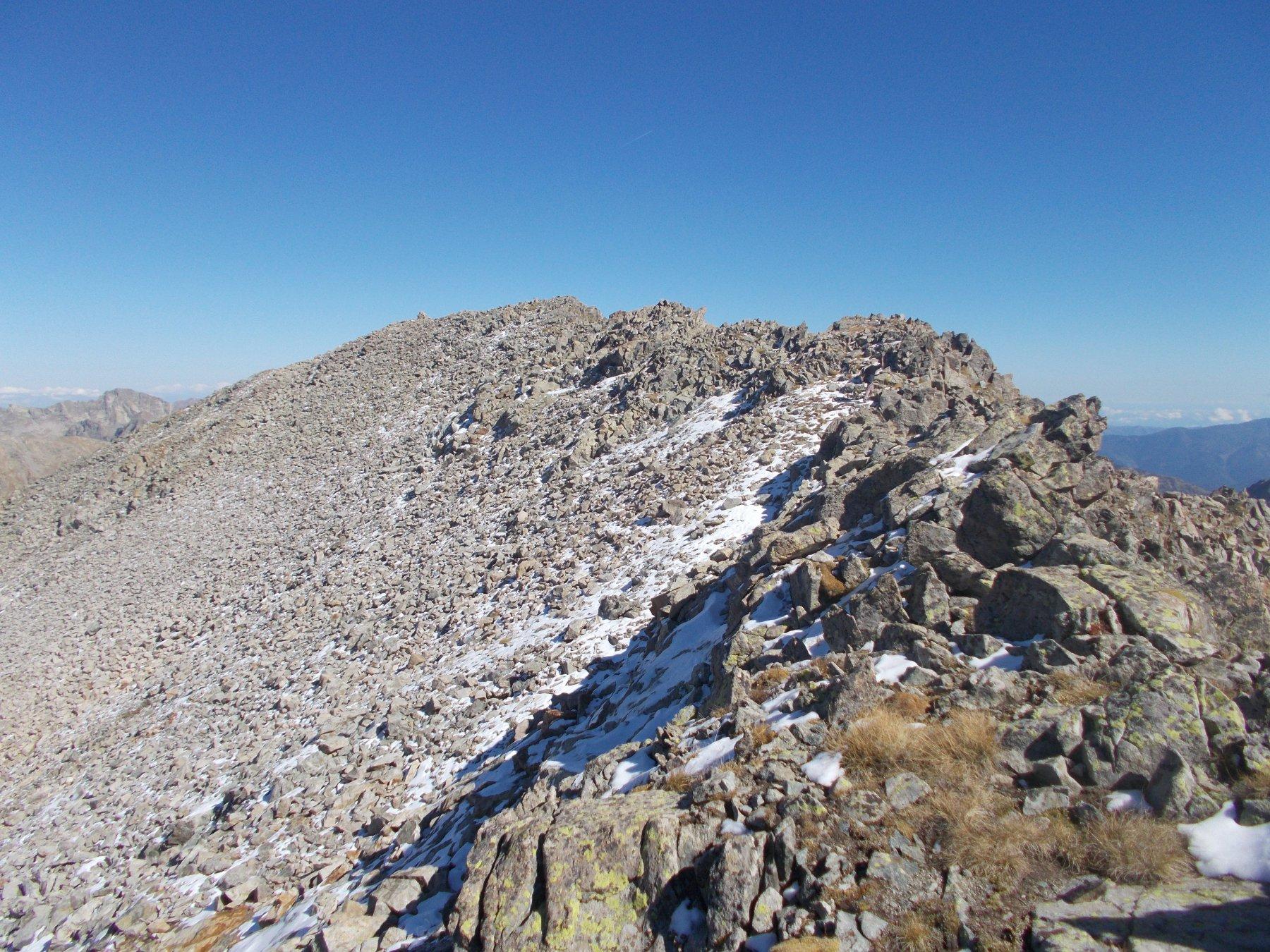 tratto finale alla Charnassere cima ovest..