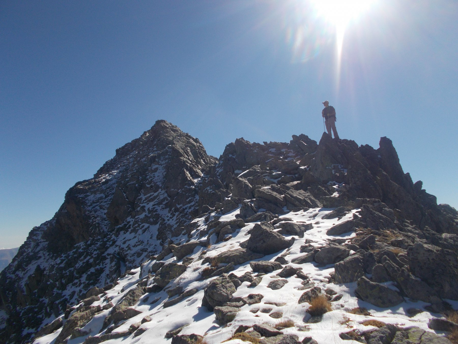 nell'ultimo tratto alpinistico prima della vetta..