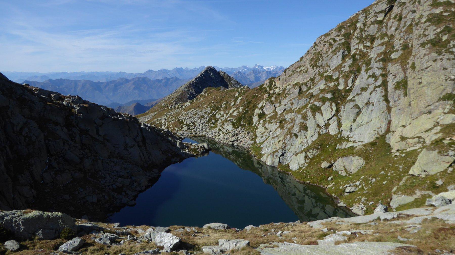 Lago superiore di Canaussa, verso la pianura