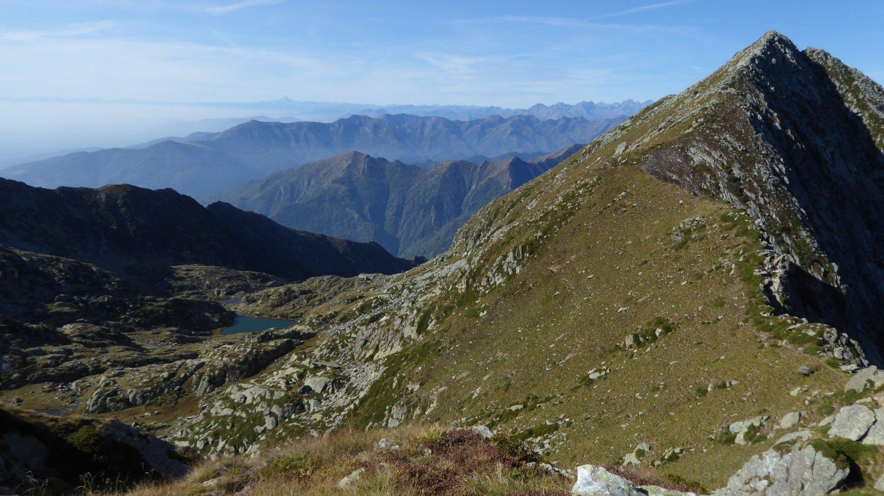 A destra, Colle della Bora Freida e Monte Canaussa