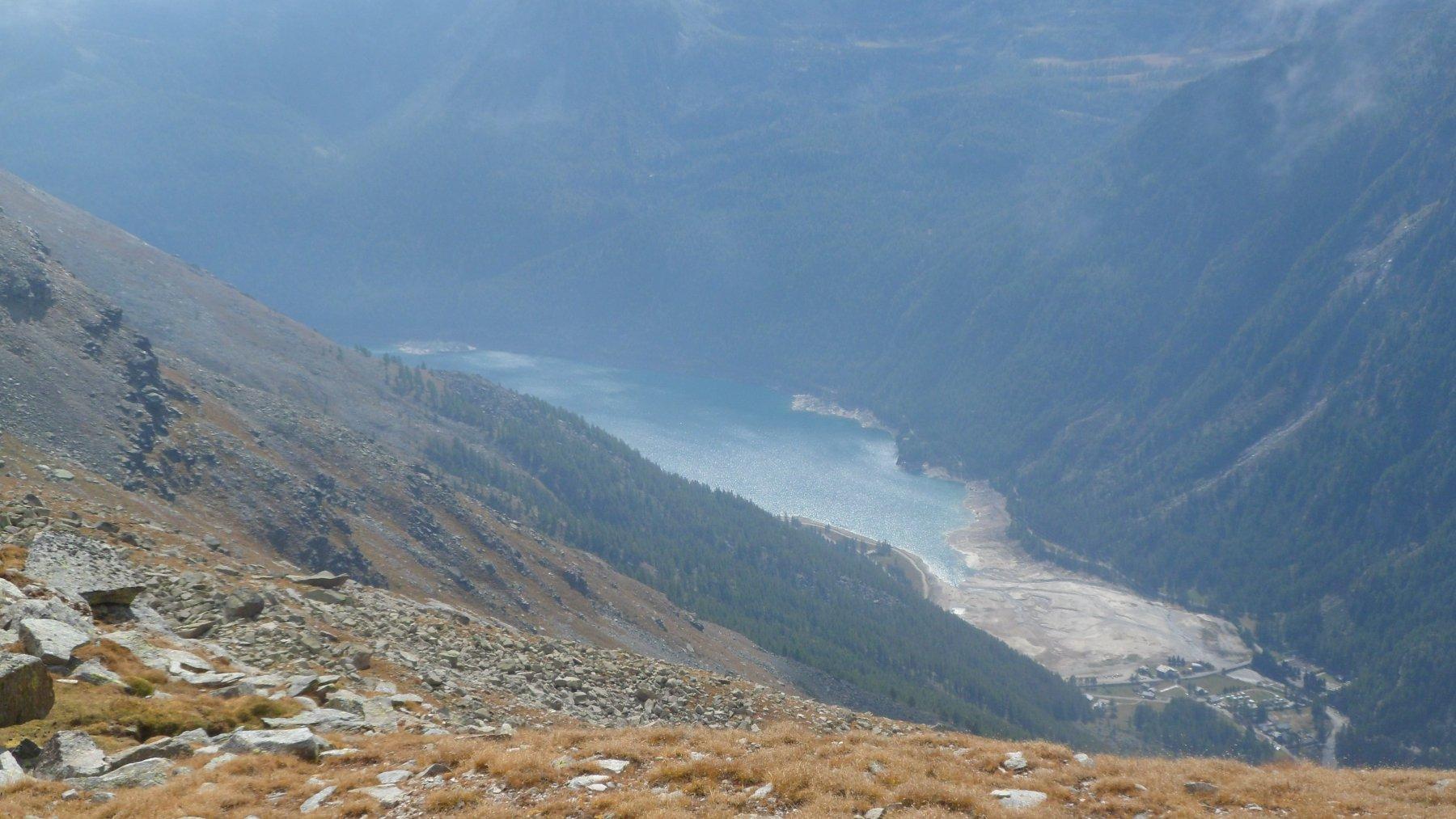 Lago di Ceresole dalla mulattiera Reale