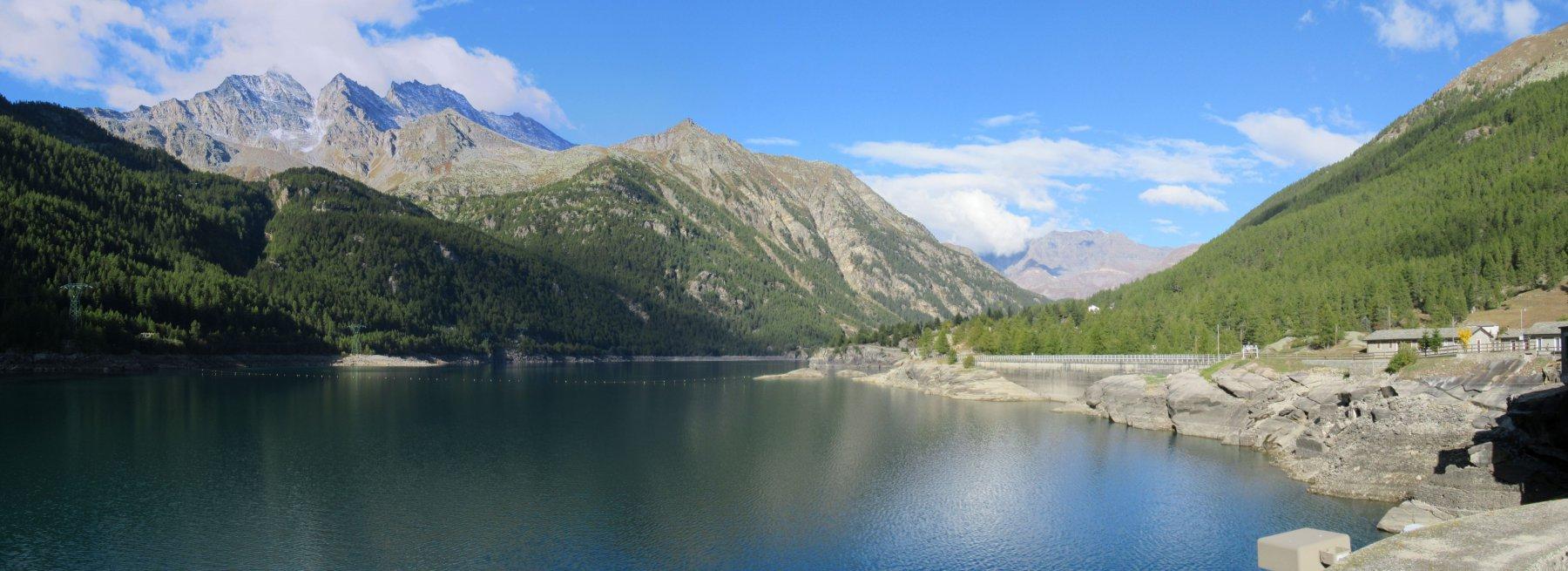 Il lago di Ceresole alla partenza