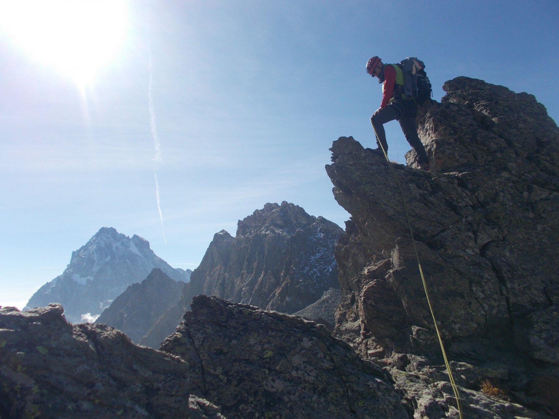 in cresta verso il Granero..