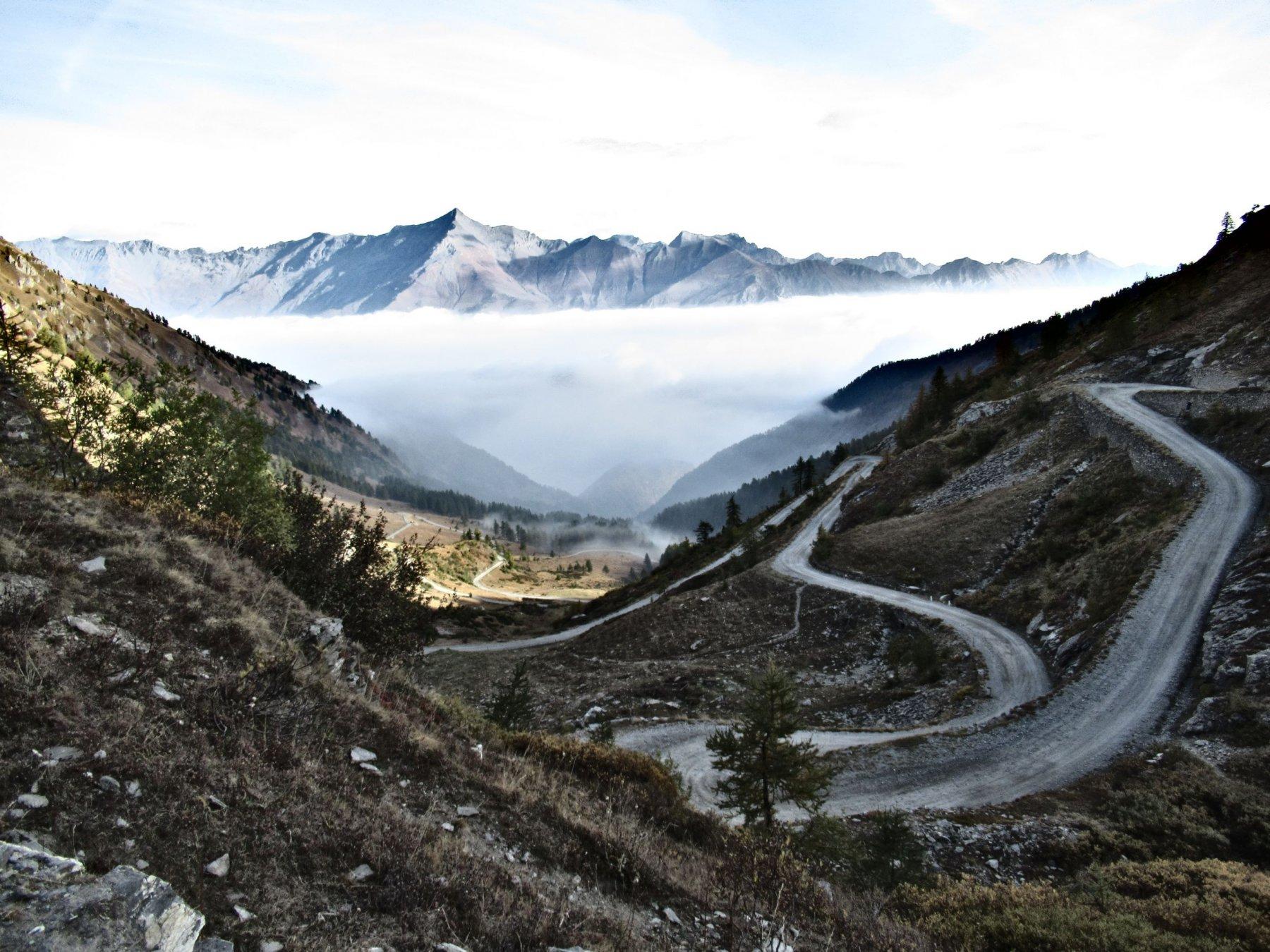 Dal colle delle Finestre verso la Val Susa