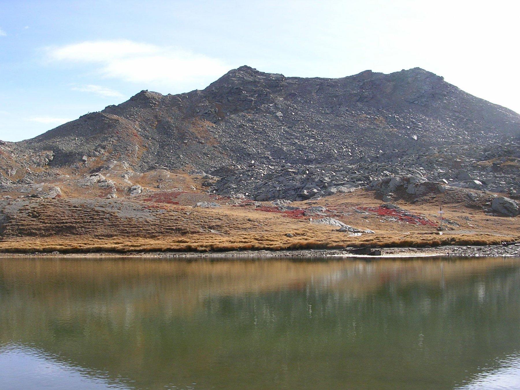 Il lago dei cannoni e la punta Cialancia
