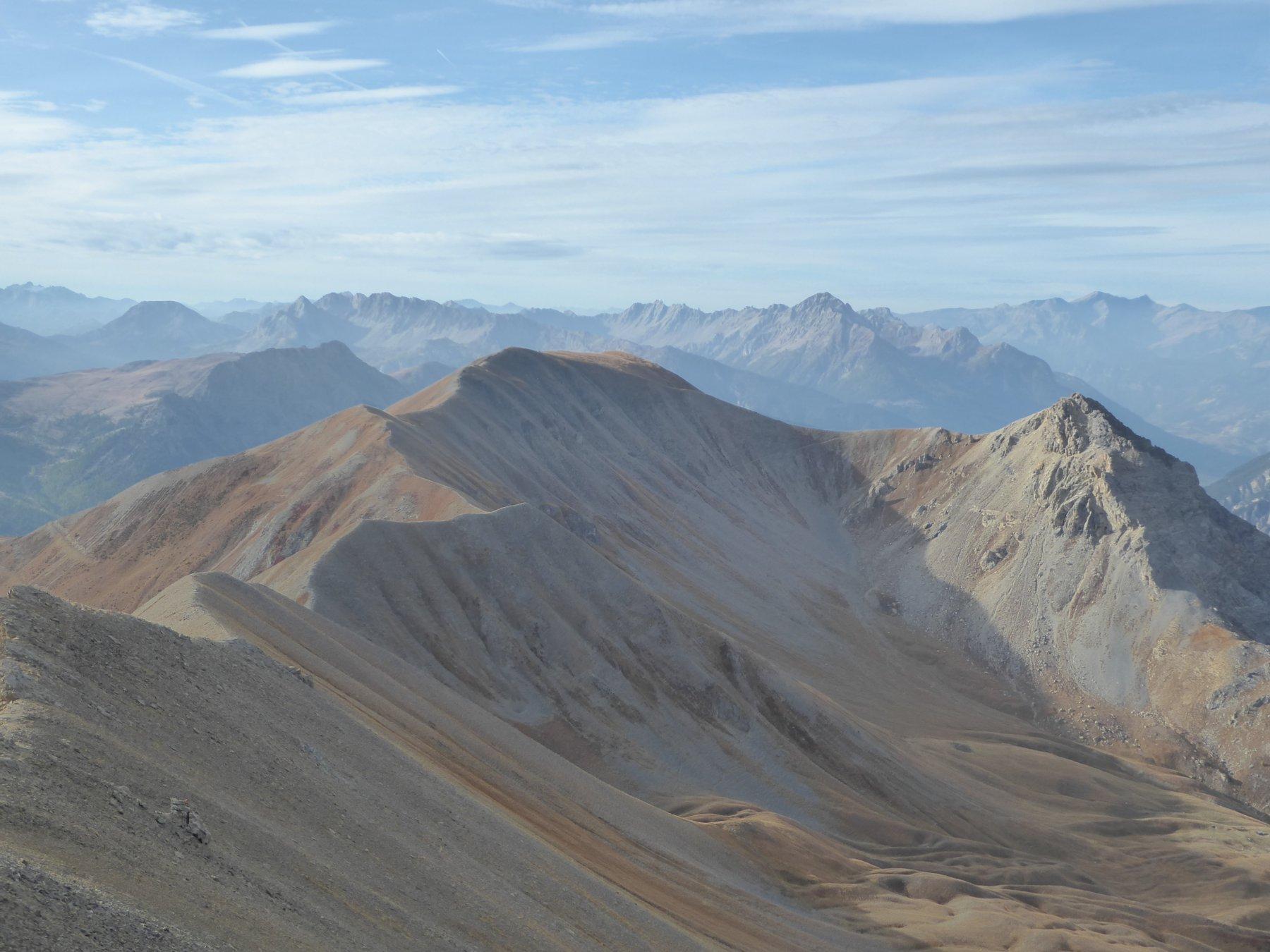 la cresta con Dormillouse, Grand Chalvet, Fourneous, Pas de la Fanfare e Tete Noire