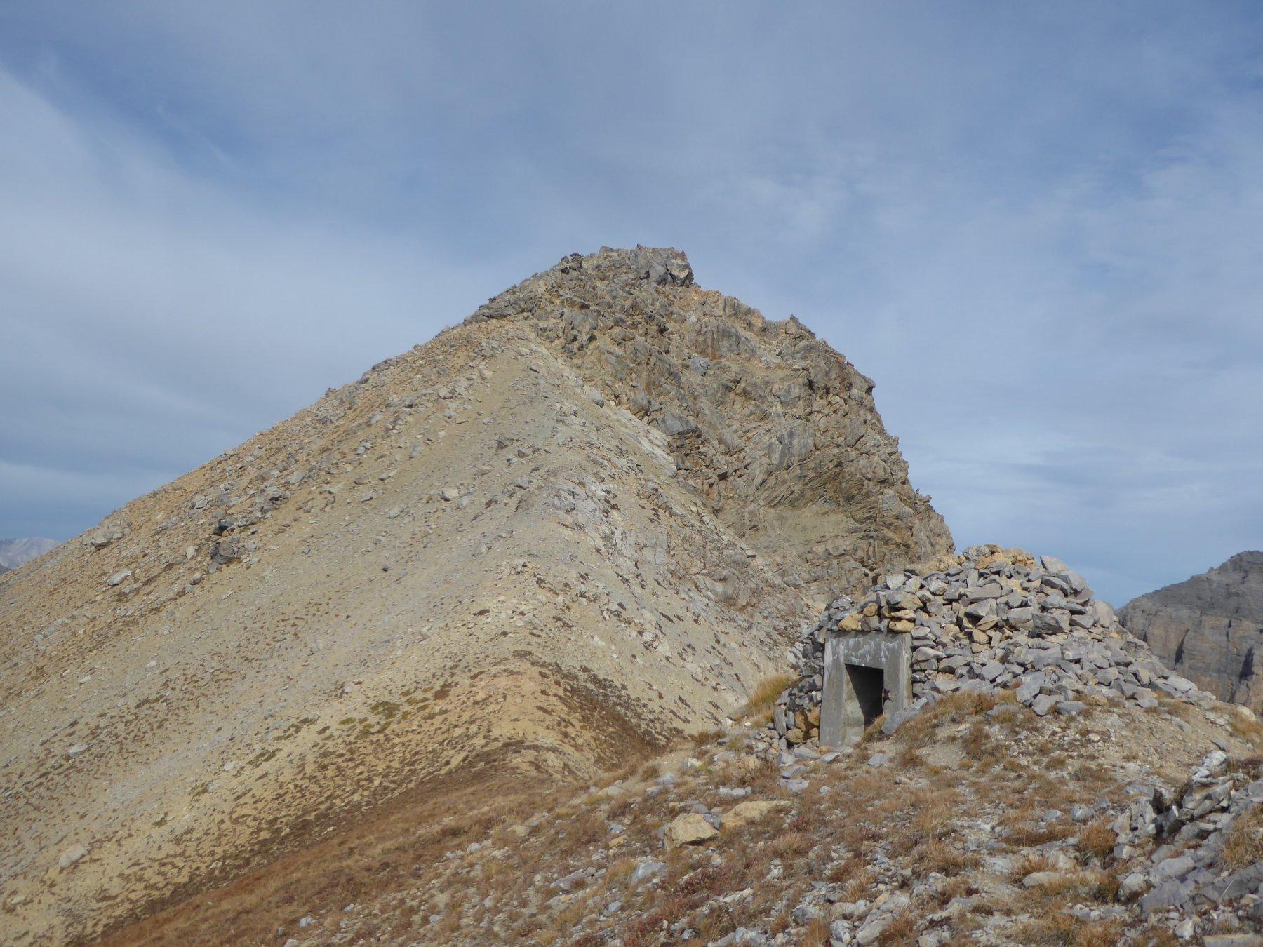 il bunker che precede l'ultimo tratto per la Tete Noire