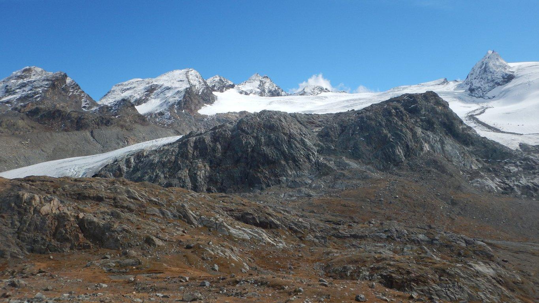 Vista sul ghiacciaio del Rutor