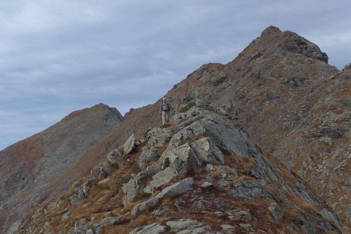 Franco sugli ultimi metri di cresta