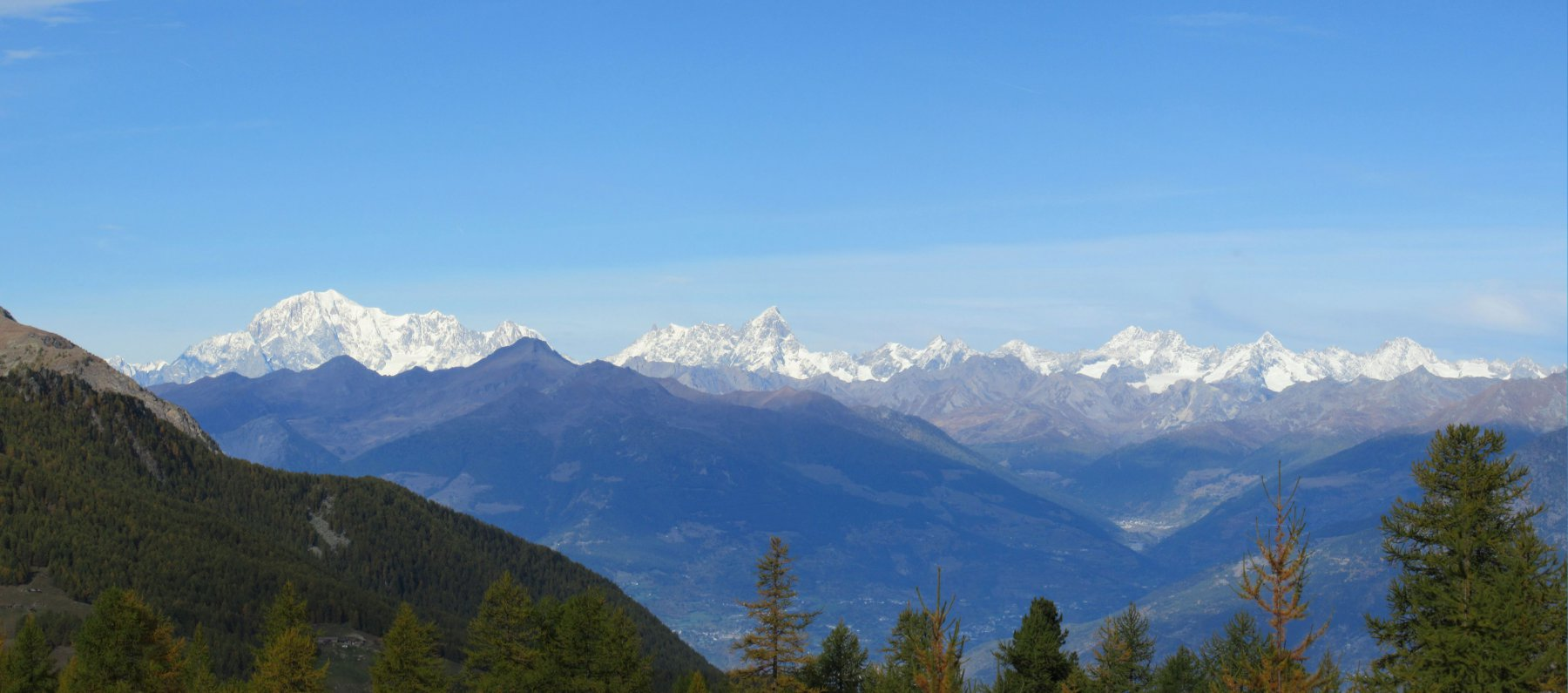 Vista sulla catena del Monte Bianco