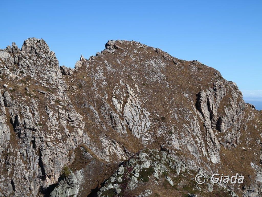 Il pendio finale della Rocca Parvo