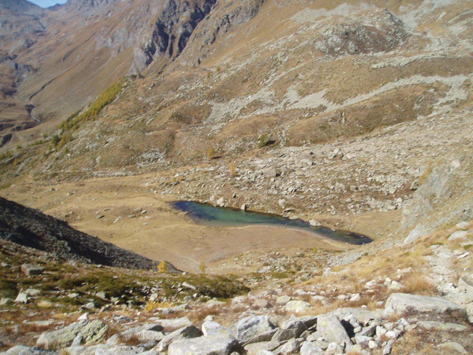 Lago Giasset dal colletto.