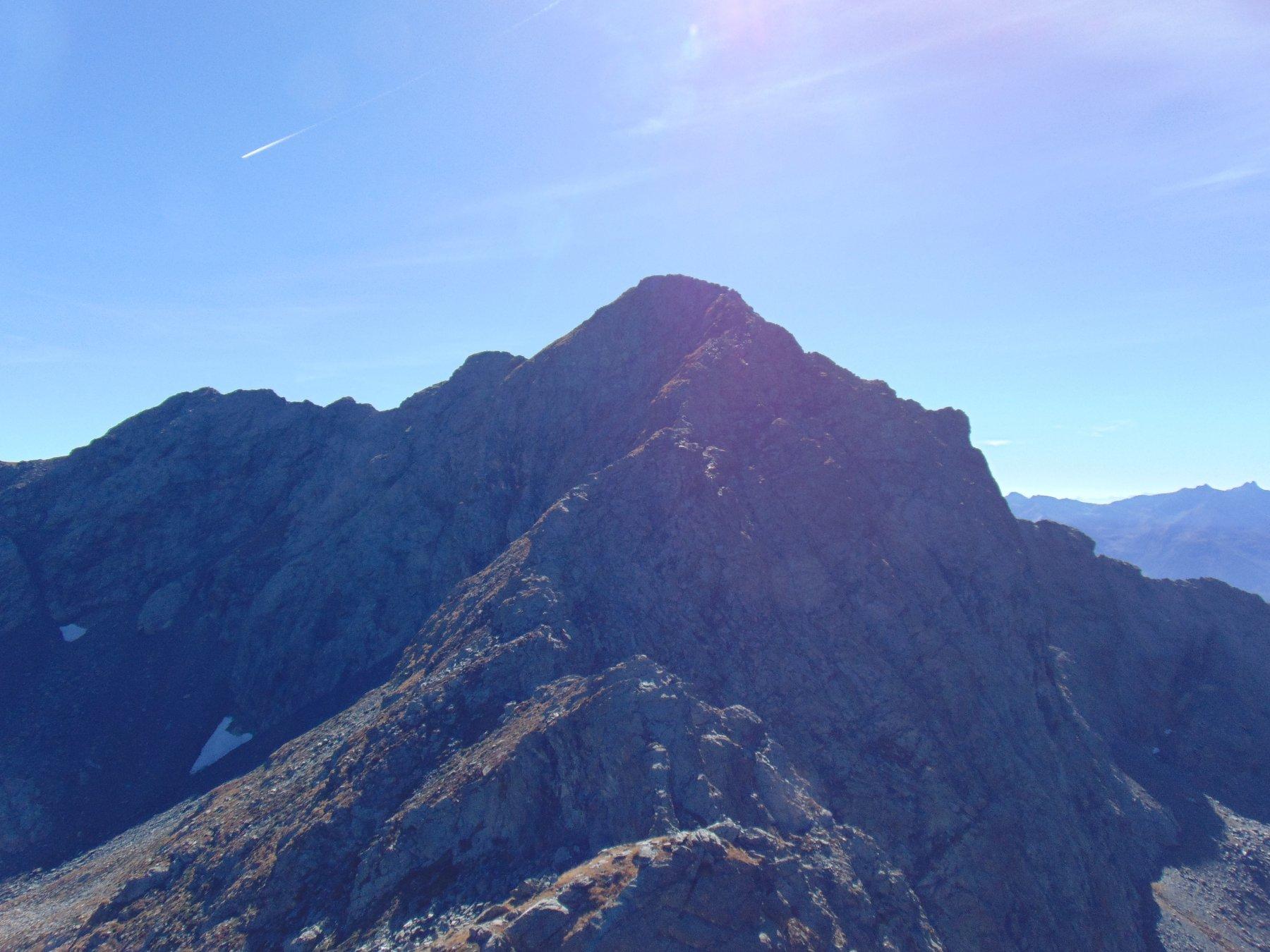 La Rocca del Forno mt.2722, con in primo piano la cresta Nord