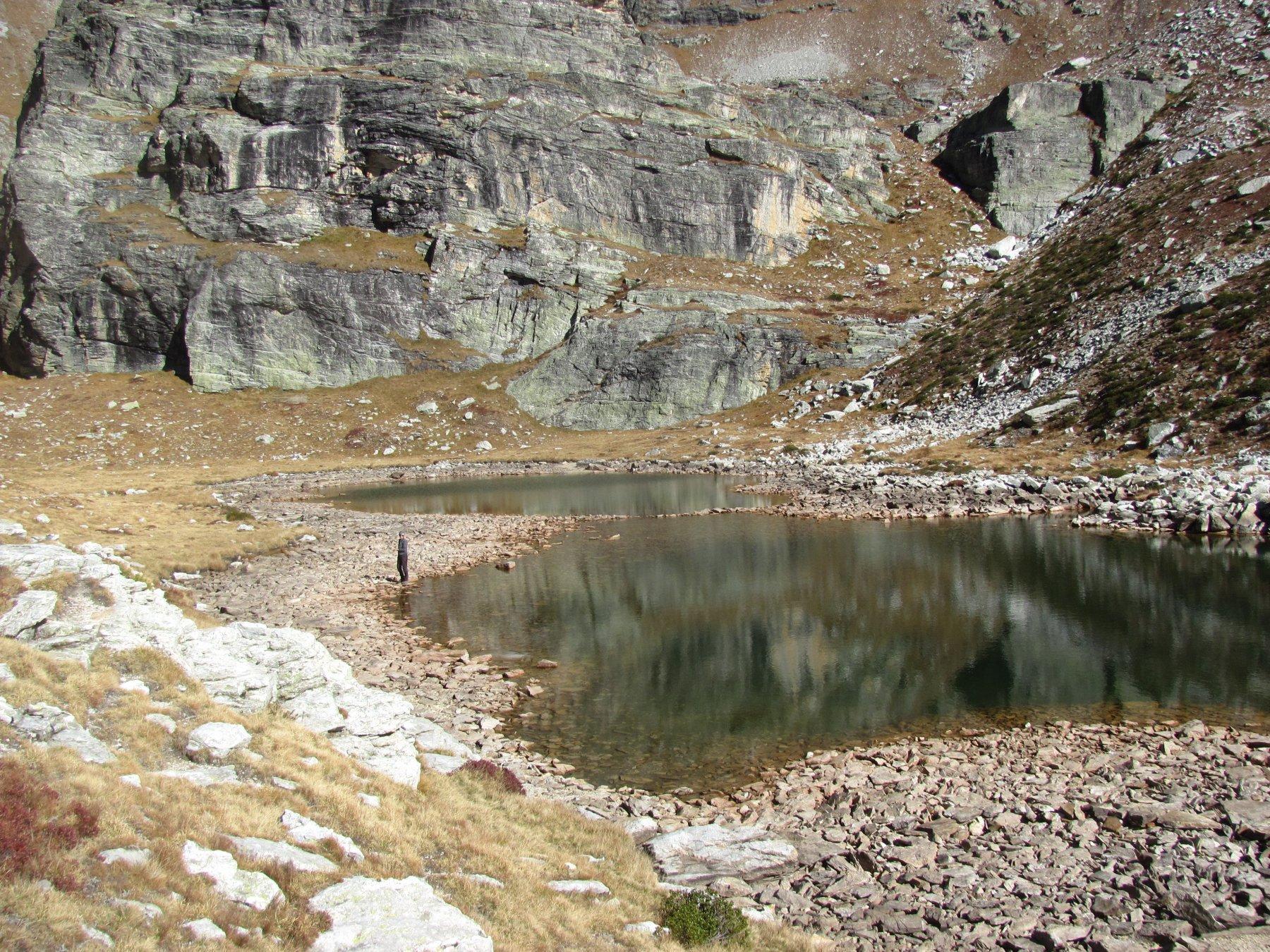 sosta rilassante al lago della Camosciera (m. 2635)